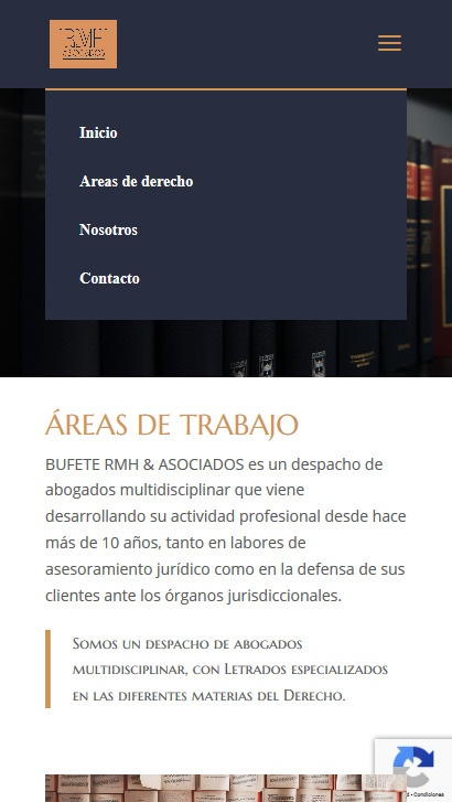 Areas de derecho RMH Abogados movil