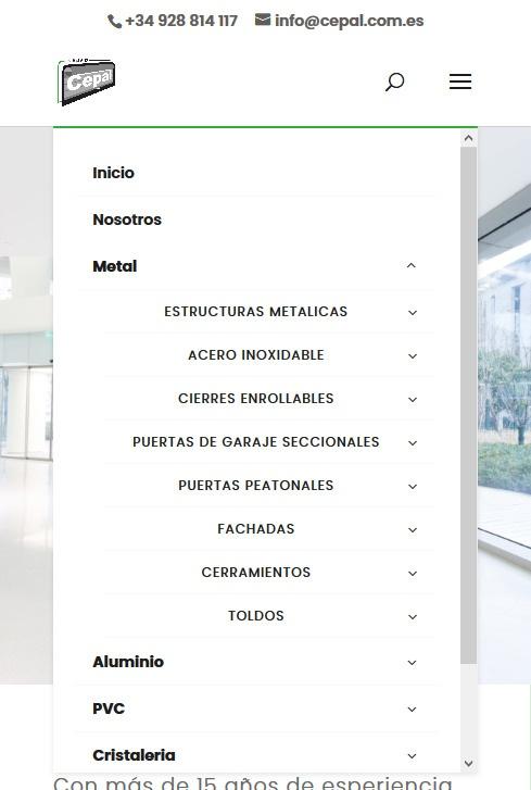Grupo Cepal menu movil