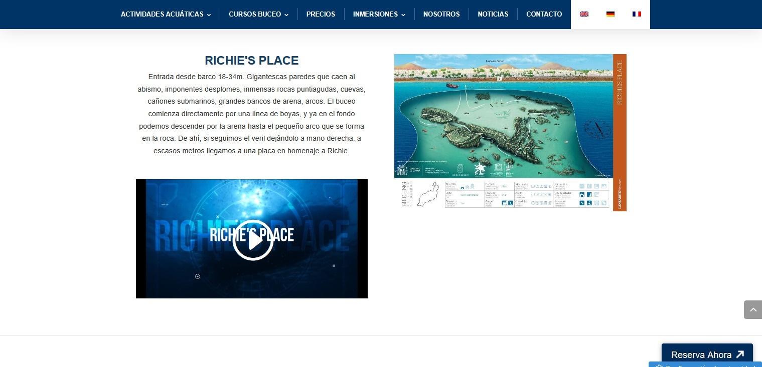video y mapa inmersiones