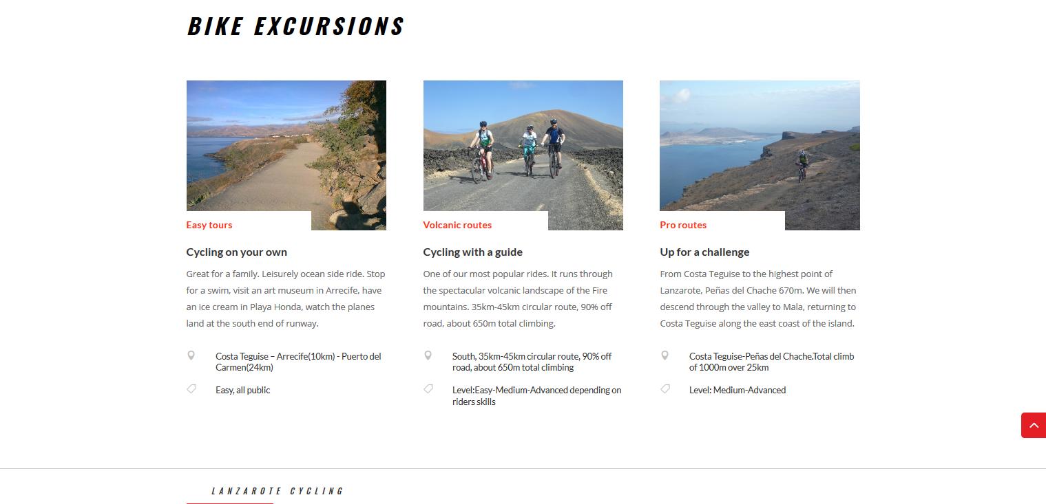MTB Excursions Bike Spot Lanzarote