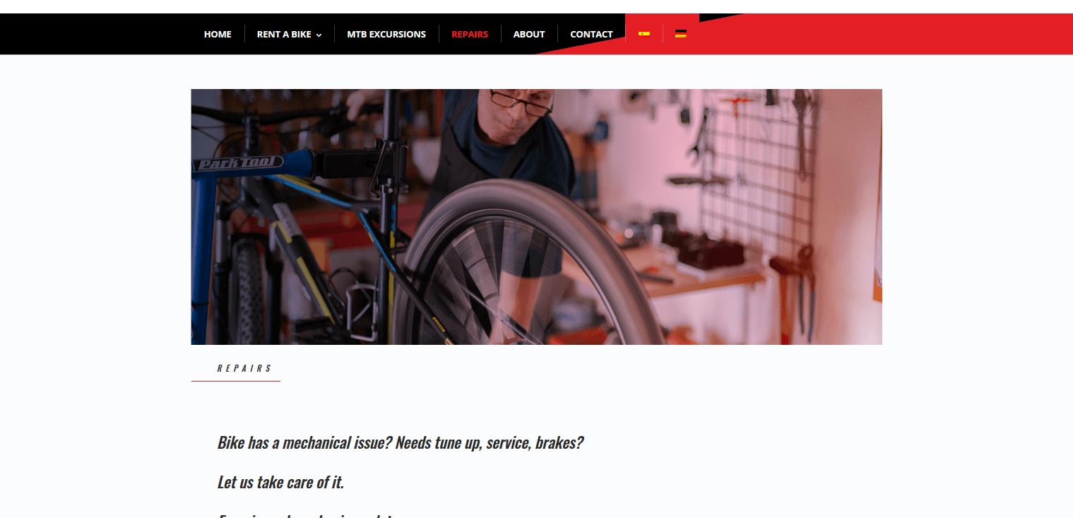 Repairs Bike Spot Lanzarote
