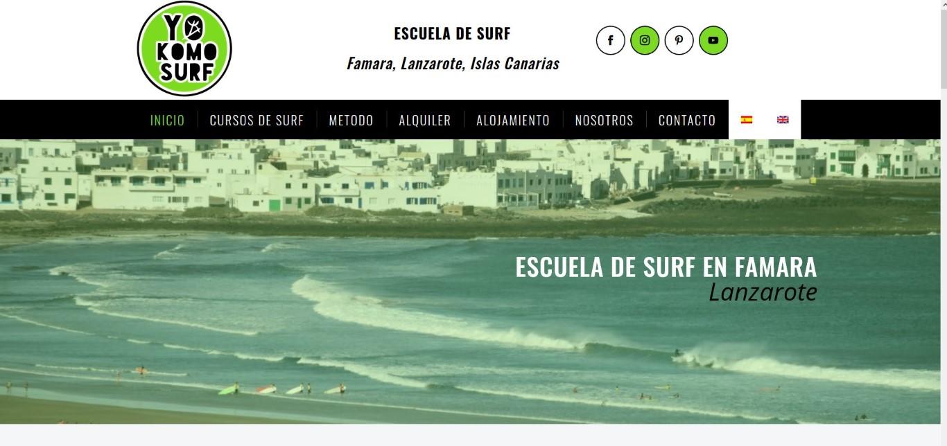 Diseño pagina web surf
